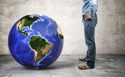 min värld Arkivfoto