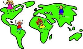 min värld royaltyfri illustrationer