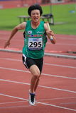 Min Woo Yoo - Korean sprinter in Prague 2012 Stock Photography