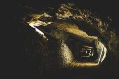 Mina abandonada - túnel Fotos de archivo