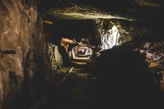 Mina abandonada - túnel Fotos de archivo libres de regalías