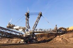 Mina aberta do potenciômetro de carvão de Brown Imagens de Stock
