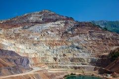 Mina abierta del mineral de hierro Imágenes de archivo libres de regalías
