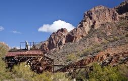 Mina de Abandonded en Arizona Imagen de archivo libre de regalías