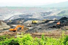 Mina de carbón de cielo abierto Imagen de archivo libre de regalías
