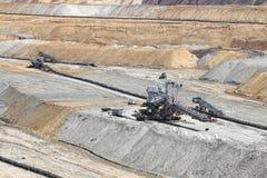 Mina de carbón de hueco abierto Imagen de archivo libre de regalías