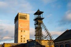 Mina de carbón en el amanecer imágenes de archivo libres de regalías