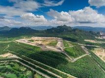 Mina de carbón en la visión aérea Fotos de archivo