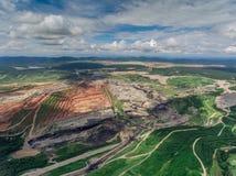 Mina de carbón en la visión aérea Fotografía de archivo libre de regalías