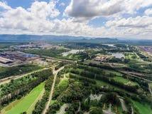 Mina de carbón en la visión aérea Imagen de archivo libre de regalías