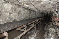 Mina de carbón moderna subterráneo Imagen de archivo