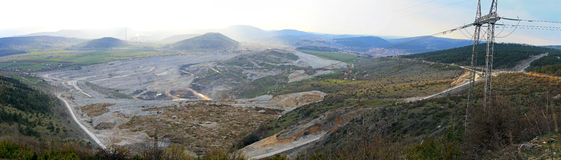 Mina de carvão de Pljevlja fotografia de stock