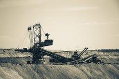 Mina de carvão de trabalho Fotos de Stock Royalty Free