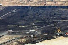 Mina de carvão do poço aberto fotos de stock