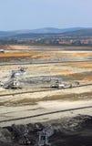 Mina de carvão do poço aberto foto de stock