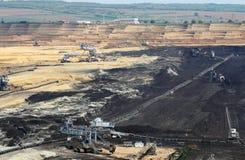 Mina de carvão do poço aberto imagem de stock