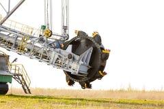 Mina de carvão marrom Opencast Máquina escavadora de roda de cubeta Fotos de Stock Royalty Free