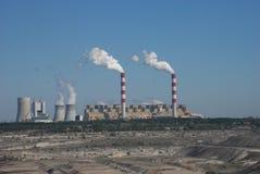 Mina de carvão no Polônia de Belchatow fotografia de stock