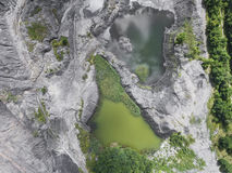 Mina de carvão velha degradada da paisagem no sul do Polônia L destruído Fotografia de Stock