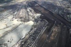 Mina de carvão, vista aérea imagens de stock