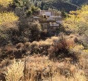 Mina de cobre abandonada em Jerome AZ fotografia de stock
