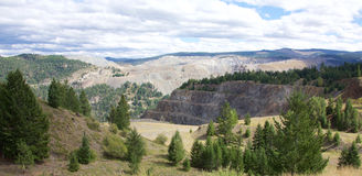 Mina de cobre de la montaña Fotografía de archivo
