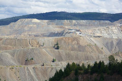 Mina de cobre de la montaña Foto de archivo libre de regalías
