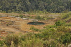 Mina de cobre de Mamut, Sabah, Malásia Imagens de Stock