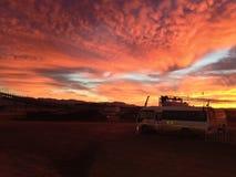Mina de ferro de Pilbara do nascer do sol ao noroeste da Austrália Ocidental imagem de stock