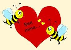 Mina de la abeja Imágenes de archivo libres de regalías