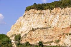 Mina de la explotación minera a cielo abierto Esta área se ha minado para la arena y el ot Imagen de archivo