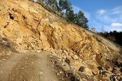 Mina de la piedra arenisca en Horni Becva, República Checa imagenes de archivo