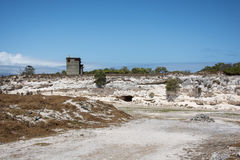 Mina de la piedra caliza de la isla de Robben Imágenes de archivo libres de regalías