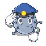 Mina de la policía bajo el agua aislada con la mascota libre illustration