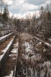 Mina de mármol abandonada en Siberia Extracci?n de minerales fotos de archivo libres de regalías