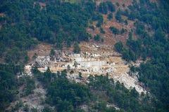 Mina de mármol en la isla de Thassos, Grecia imagenes de archivo