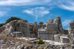 Mina de mármol - isla Italia de Palmaria Imágenes de archivo libres de regalías