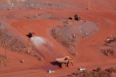 Mina de mineral de hierro Fotografía de archivo