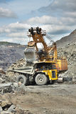 Mina de mineral de hierro Foto de archivo libre de regalías