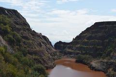 Mina de mineral de hierro de Ngwenya Fotografía de archivo libre de regalías