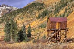 Mina de oro abandonada Fotografía de archivo libre de regalías
