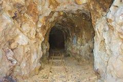 Mina de oro abandonada Imágenes de archivo libres de regalías