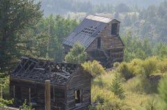 Mina de oro abandonada vieja situada en Victor Colorado Fotos de archivo