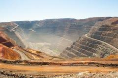 Mina de ouro aberta do corte do poço super de Kalgoorlie da vista aérea Imagens de Stock Royalty Free