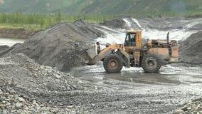 Mina de ouro em Yakutia video estoque