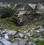 Mina de pizarra vieja, Valentia Island, manera atlántica salvaje fotografía de archivo libre de regalías
