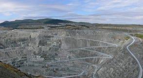 Mina de poço aberto Imagens de Stock
