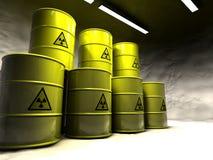 Mina de sal con la basura atómica Fotos de archivo libres de regalías