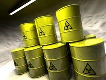 Mina de sal con la basura atómica Foto de archivo libre de regalías