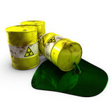 Mina de sal con la basura atómica Fotografía de archivo libre de regalías
